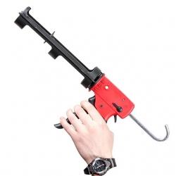 Пистолет для выдавливания силикона, усиленный пластик, 2 режима, аквастоп HT-0028