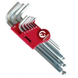 Набор Г-образных шестигранных ключей с шарообразным наконечником НТ-0603