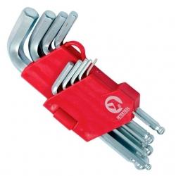 Набор Г-образных шестигранных ключей с шарообразным наконечником НТ-0605