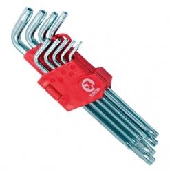 Набор Г-образных ключей TORX с отверстием НТ-0604