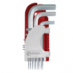 Набор Г-образных шестигранных ключей 9 шт. с шарообразным наконечником PROF НТ-1813