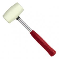 Киянка резиновая с металлической ручкой , белая резина