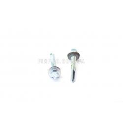 Винт самосверлящий (TEX) + шайба EPDM, с удлинённым сверлом (для металла)