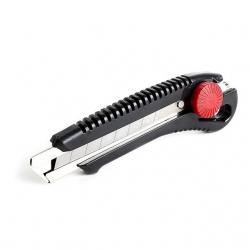 Нож с металлической направляющей под лезвие 18 мм с винтовым фиксатором HT-0502