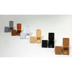 Мебельный пластиковый уголок с 1-м отверстием и заглушкой