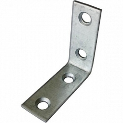 Уголки узкие металлические цинк белый 2,0мм